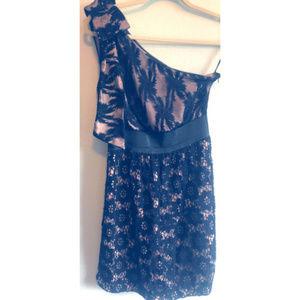 Miss Me Size Small Black Summer Dress One Shoulder